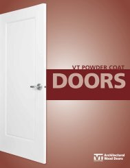 Powder Coat Door Brochure - VT Industries Inc