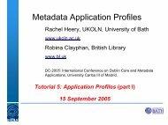 Metadata Application Profiles - Dublin Core® Metadata Initiative