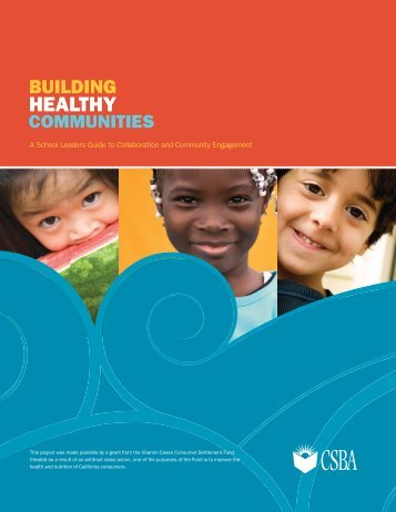 Building Healthy Communities: A School Leader's Guide to ...