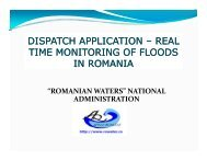 real time monitoring of floods in romania