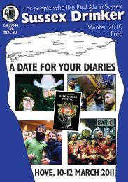 Sussex Drinker: Winter 2010 - Arun & Adur CAMRA