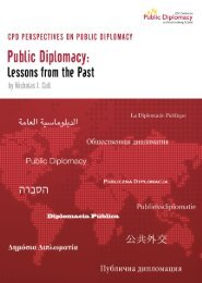 Lessons from the Past - USC Center on Public Diplomacy