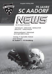 SCA-News Frühjahr 2009 - SC Aadorf