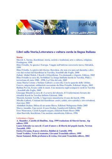Libri sulla Storia,Letteratura e cultura curda in lingua Italiana