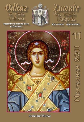 November - Mesačník Odkaz sv. Cyrila a Metoda