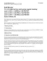 Draft Minutes T11.3 FC-BB-6 ad hoc work group regular meeting ...