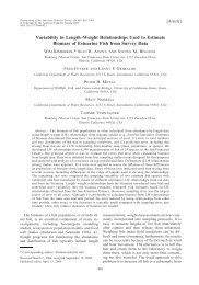 Variability in Length–Weight Relationships Used to Estimate ...