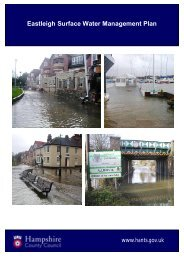 Surface Water Management Plan - Hampshire County Council