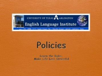 2. Unsigned Policies Orientation.pdf - UTA ELI