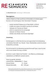 Demulgatoren - Rechem Services