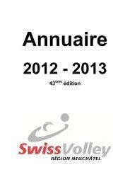 loisirs » 2012-2013 - Swiss Volley Région Neuchâtel