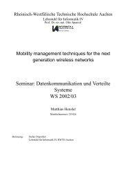 Mobility Management techniques for next generation ... - Informatik 4