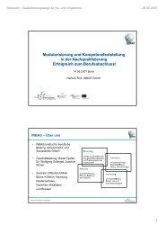 Modularisierung und Kompetenzfeststellung in der ...