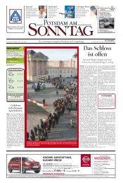 Das Schloss ist offen - Potsdamer Neueste Nachrichten