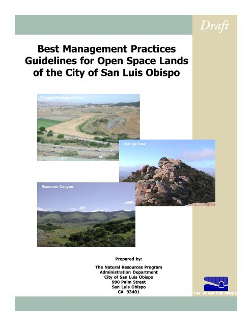 Best Management Practices Guidelines for Open Space Lands