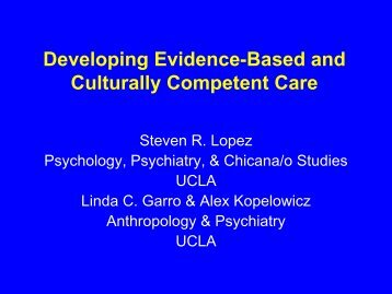 Developing Evidence-Based and Culturally Competent Care - Hogg ...