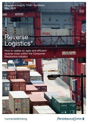 Reverse Logistics* - Centre for Remanufacturing & Reuse
