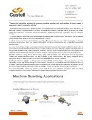 Machine Guarding in Wash-down Environments - Castell