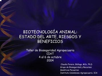 BIOTECNOLOGÍA ANIMAL: ESTADO DEL ARTE, RIESGOS  Y ...
