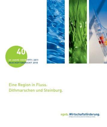 Eine Region in Fluss. Dithmarschen und Steinburg.