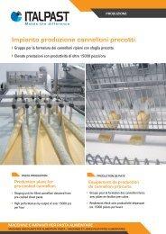 Impianto produzione cannelloni precotti - Italpast