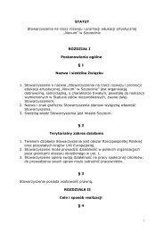 STATUT Stowarzyszenia na rzecz rozwoju i promocji edukacji ...