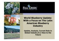 World Blueberry Update - Global Berry Congress