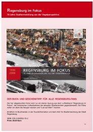 Regensburg im Fokus --- 70 Jahre Stadtentwicklung aus der ...