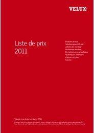Liste de prix 2011