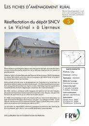 Le Vicinal » à Lierneux - Fondation rurale de Wallonie