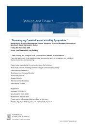 Time-Varying Correlation and Volatility Symposium - The University ...