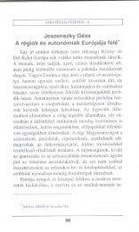 Jeszenszky Géza: A régiók és autonómiák Európája felé