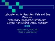 Laboratories for Parasites, Fish and Bee Diseases Veterinary ...