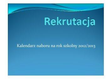 Kalendarz naboru na rok szkolny 2012/2013 - Gimnazjum nr 1 w ...