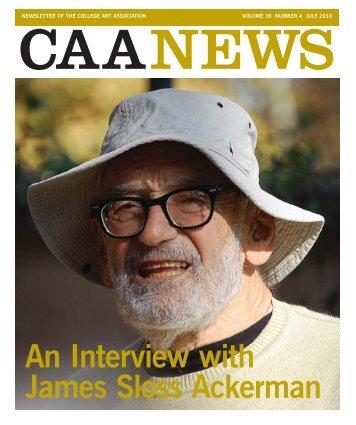July 2010 CAA News - College Art Association