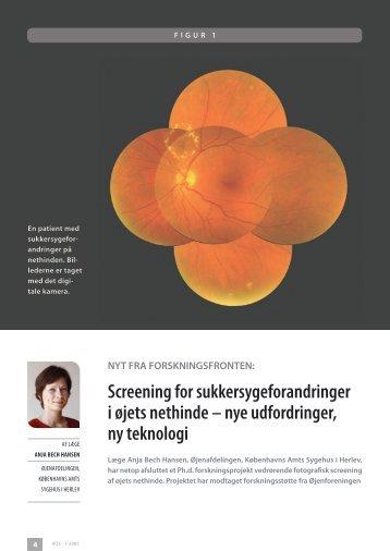 Screening for sukkersygeforandringer i øjets nethinde – nye ...