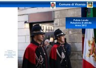 Relazione annuale attività 2012 - Comune di Vicenza
