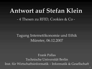 Download - Informatik und Gesellschaft - TU Berlin