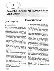 Semantic Engines: An Introduction to Mind Design - Computer ...