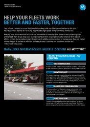 MOTOTRBO™ Transportation & Logistics Solution Use Case