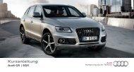 Kurzanleitung Q5 - PDF (1 MB) - Audi