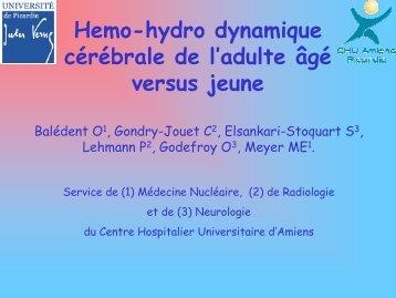 Hemo-hydro dynamique cérébrale de l'adulte âgé versus jeune