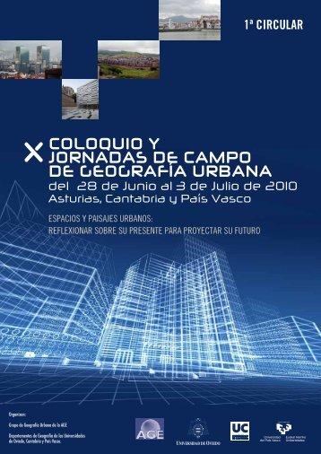 coloquio y jornadas de campo de geografía urbana - Asociación de ...