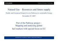 The development of the natural gas market in Europe and the ...