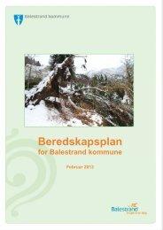 Beredskapsplan for Balestrand kommune, februar 2013