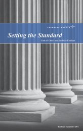 Setting the Standard - Code of Ethics & Business ... - Lockheed Martin