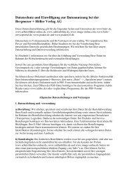 Datenschutz und Einwilligung zur Datennutzung bei der Bergmoser ...