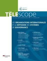 organisations internationales - Télescope