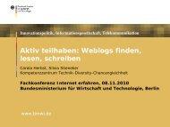 Workshop Weblogs finden schreiben lesen - Internet-Patinnen und ...