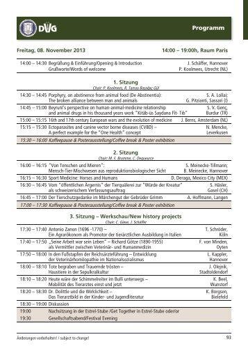 Vorträge - Presentations - DVG-Vet-Congress